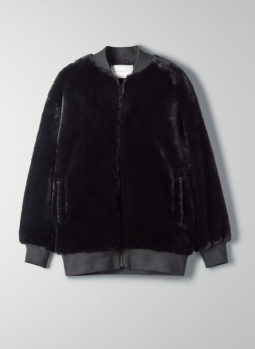 FAUX FUR BOMBER JACKET - Faux fur bomber jacket