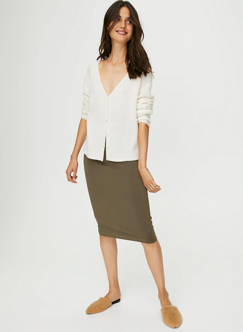 EASY PENCIL SKIRT - High-waisted bodycon skirt