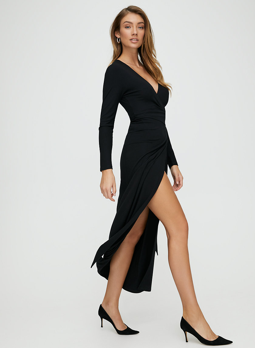 NOLA DRESS - Long sleeve wrap dress