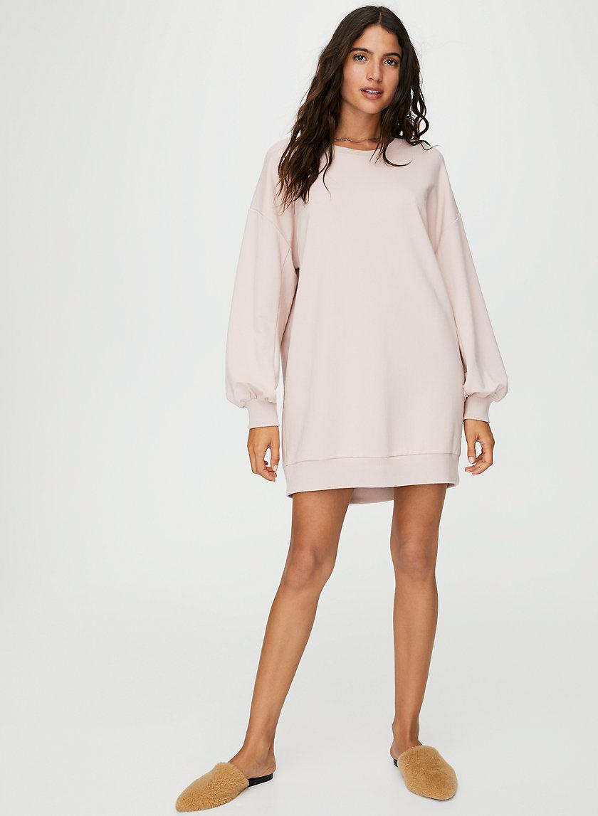 FLEECE SWEATER DRESS - Oversized sweatshirt dress