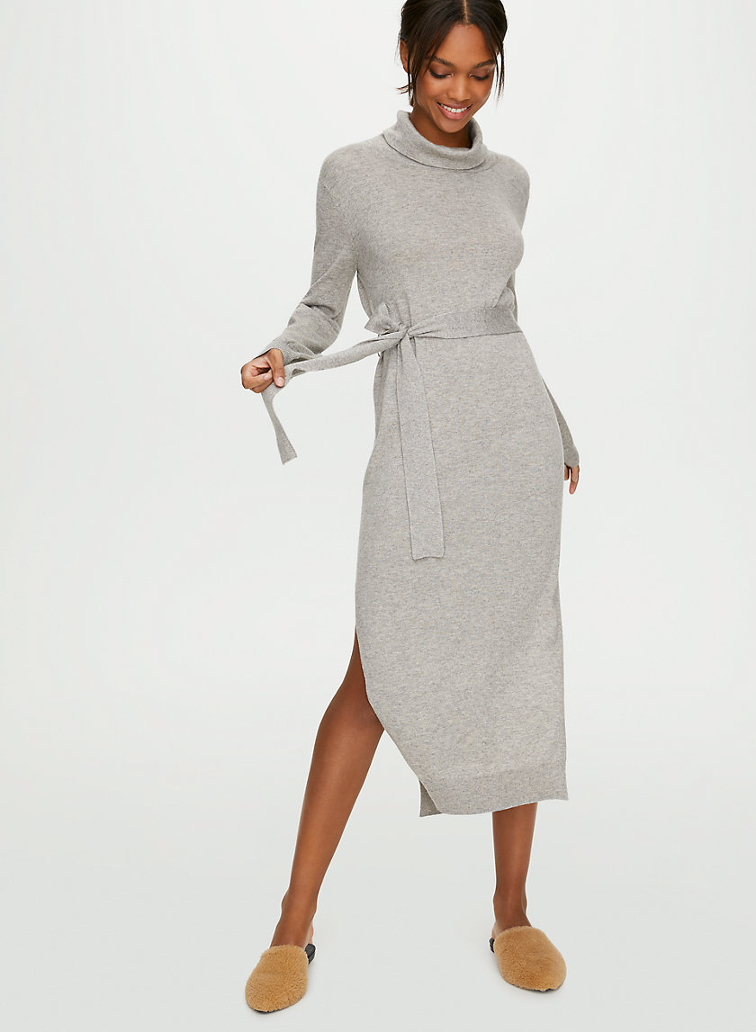 ONO DRESS - Belted long-sleeve sweater dress