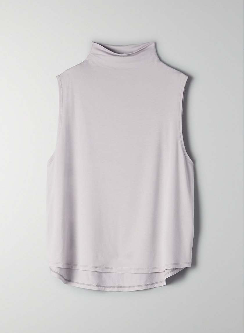 VINCE T-SHIRT - Mock-neck tank top