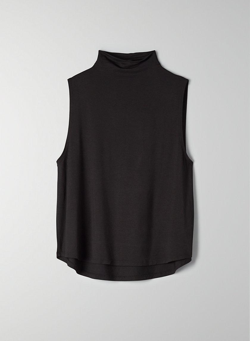 VINCE T-SHIRT - Mock-neck tank top