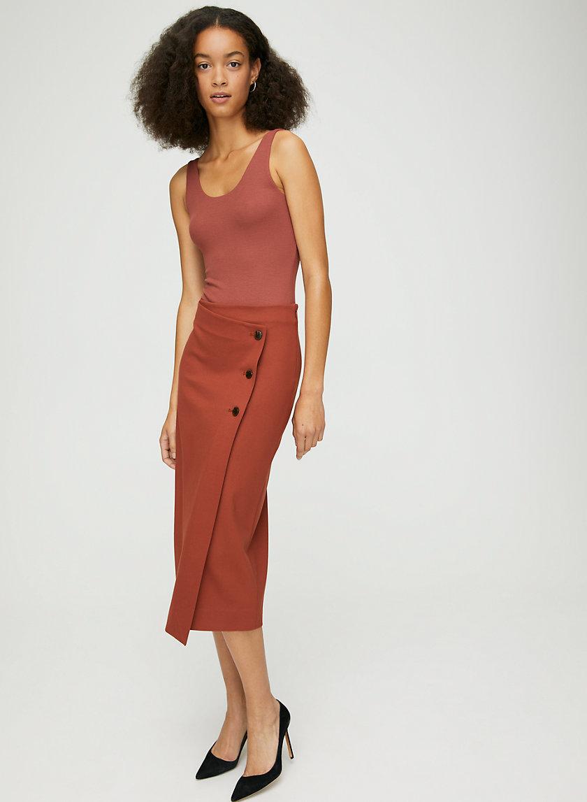 CLARKE BODYSUIT - Double-layer, scoop-neck bodysuit