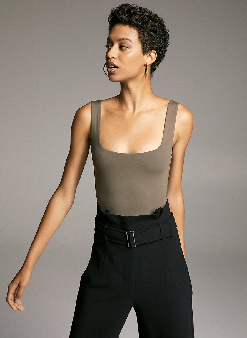 CONTOUR BODYSUIT - Square neck, thong bodysuit