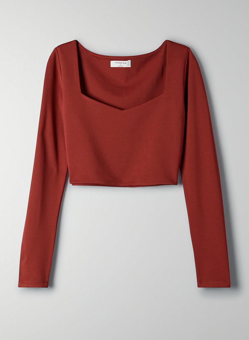 SANDER LONGSLEEVE - Long-sleeve cropped t-shirt