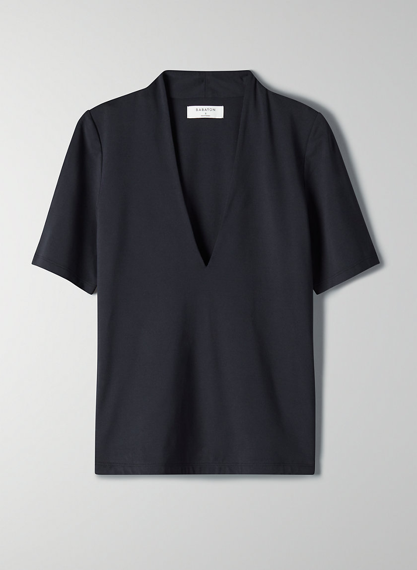 COLEMAN T-SHIRT - V-neck dressy t-shirt