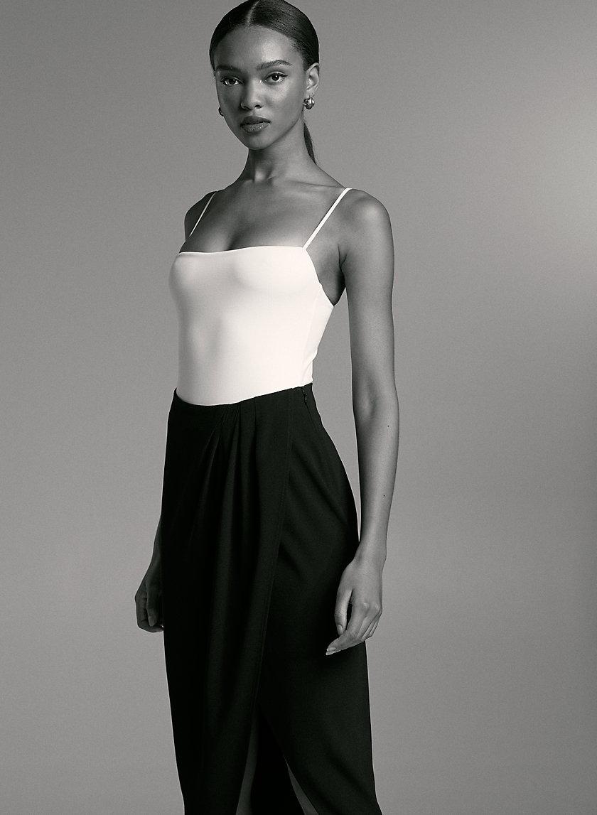 GENZO BODYSUIT - Square neck, thong bodysuit