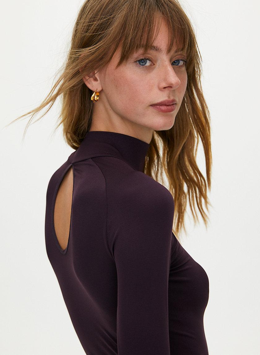 PALLADIO BODYSUIT - Mock-neck thong bodysuit