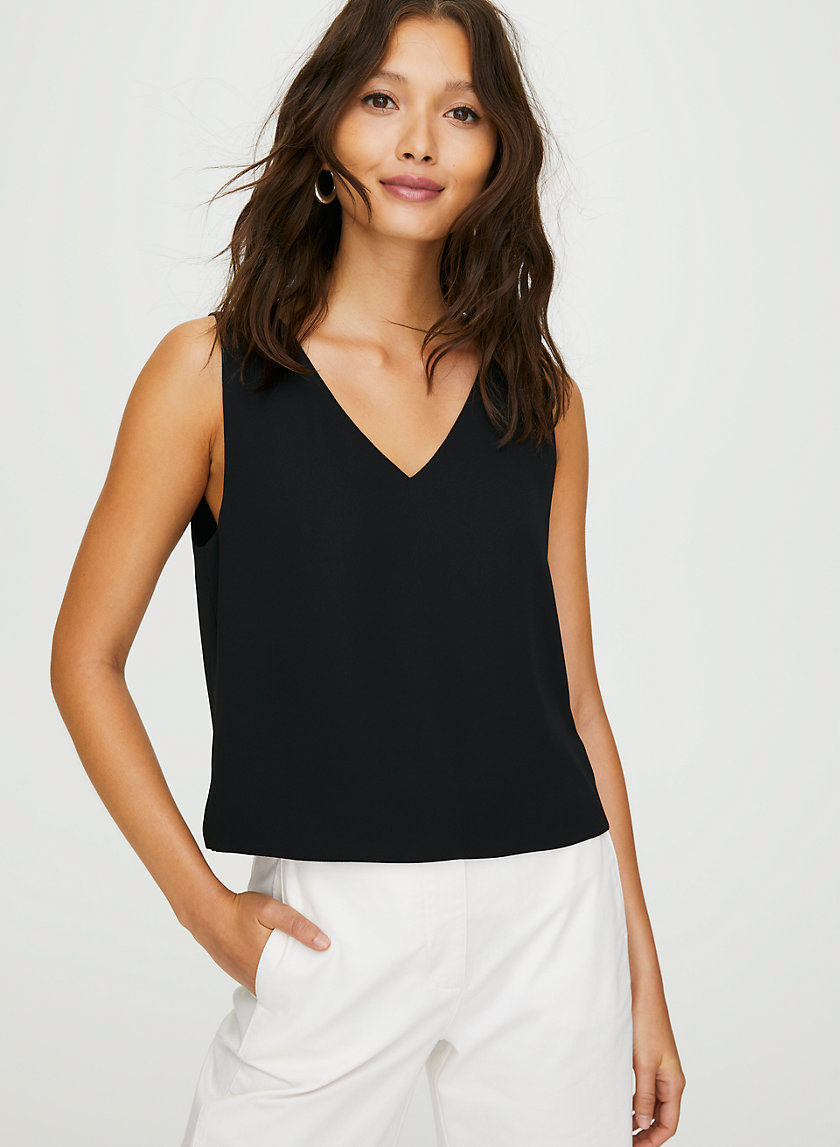 MURPHY BLOUSE - Cropped, sleeveless top