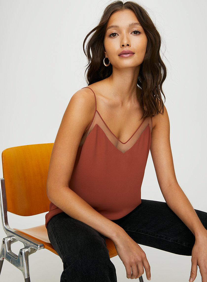GALEN CAMISOLE - Mesh camisole top