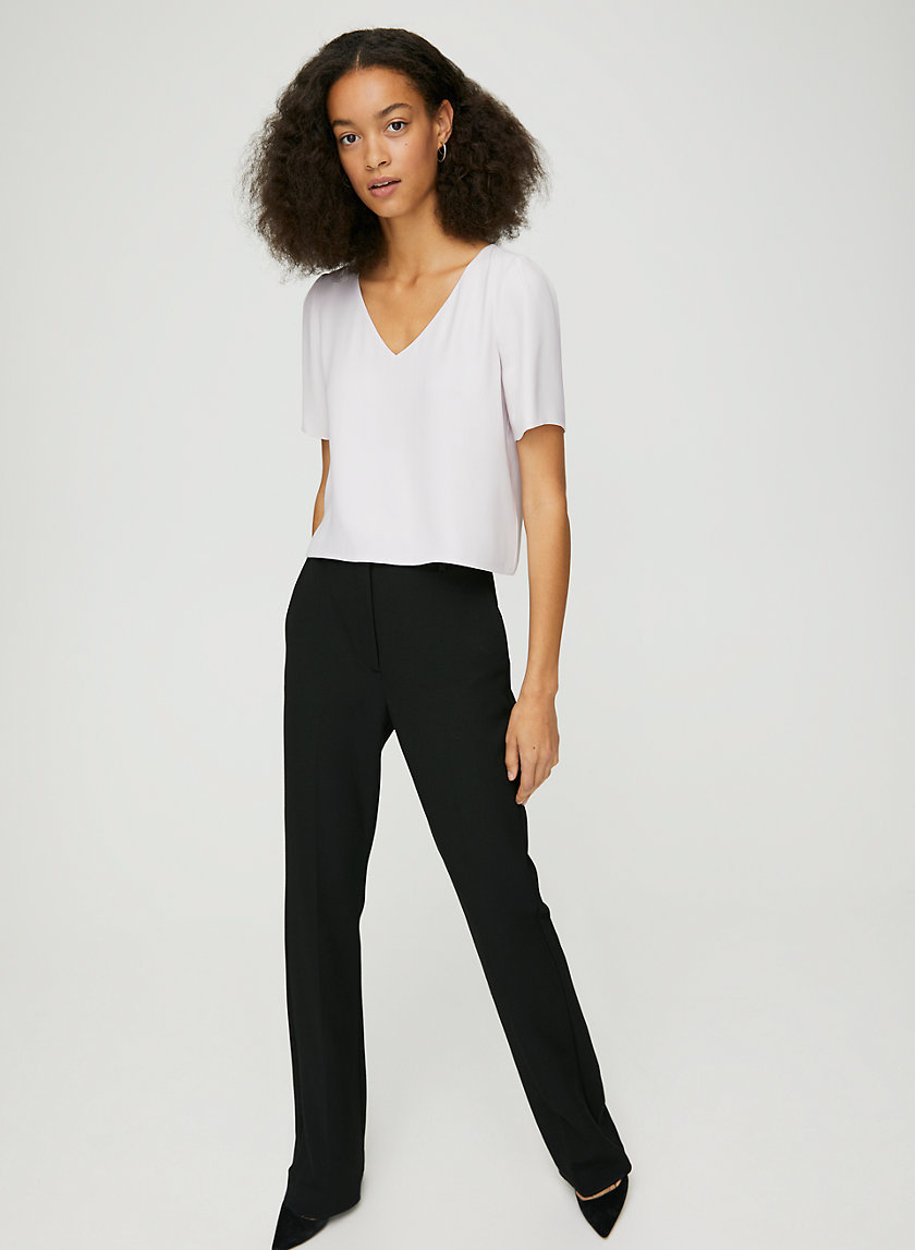 RANDY BLOUSE - Cropped, short-sleeve blouse