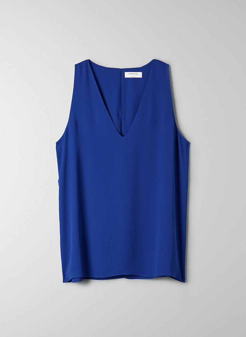 MADDOX BLOUSE - Sleeveless, back-slit top