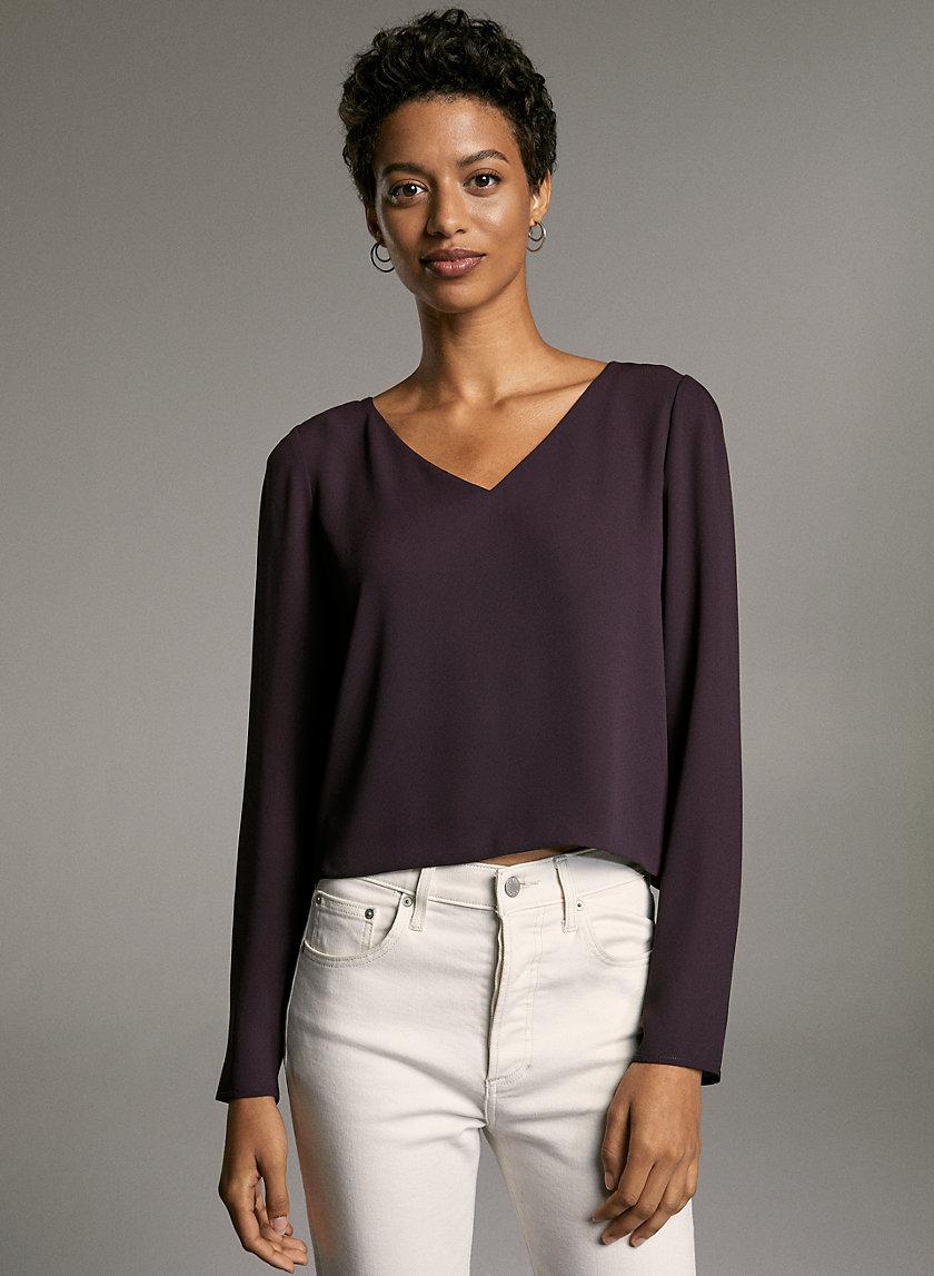 MURPHY LONGSLEEVE - Long-sleeve, V-neck blouse
