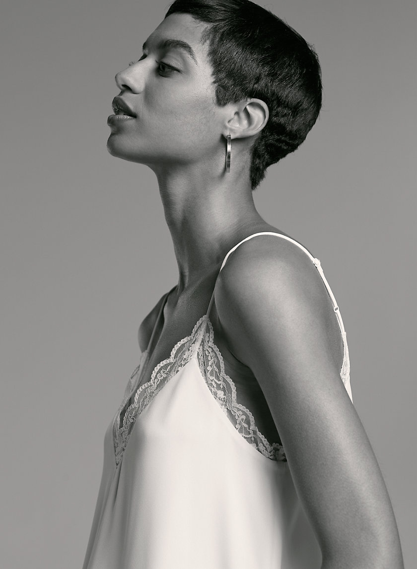 AMBRE LACE CAMISOLE - Lace-trimmed camisole