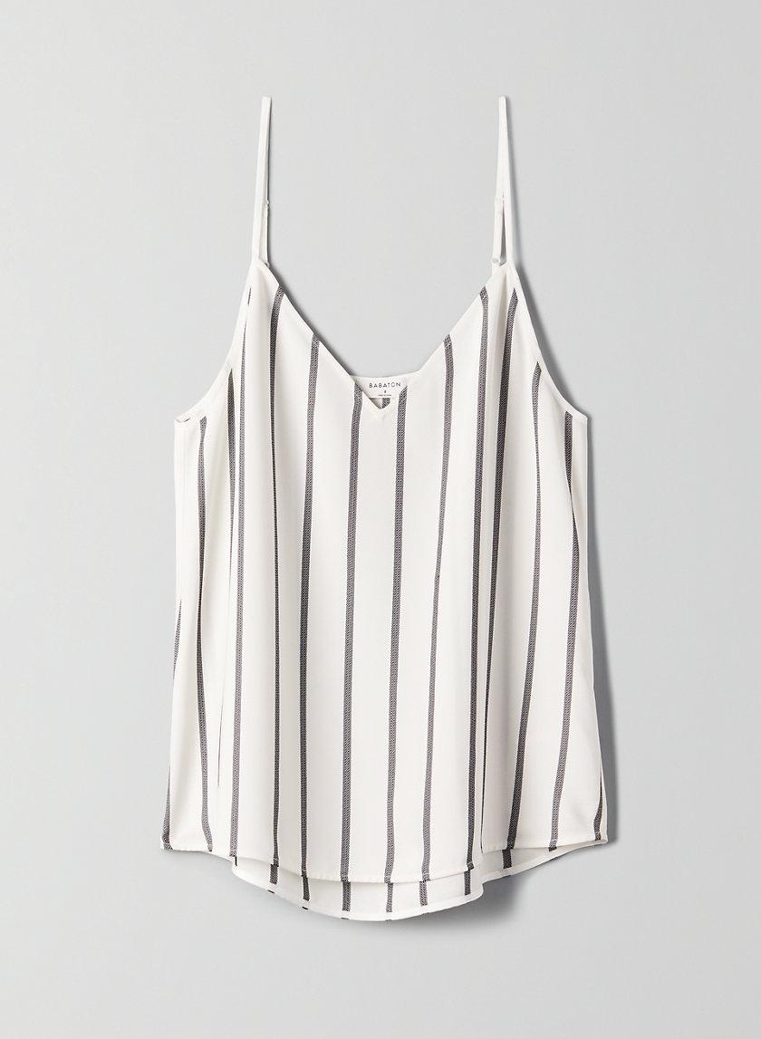 EVERLY CAMISOLE - Striped V-neck Camisole