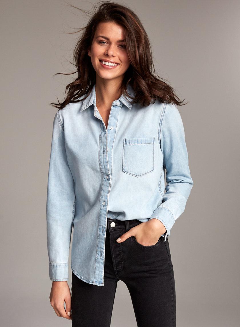 THE EX BOYFRIEND SHIRT - Button-down denim shirt