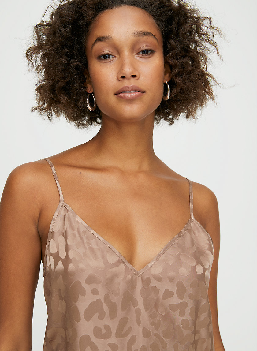EVERLY CAMISOLE - Silk-blend leopard-print camisole