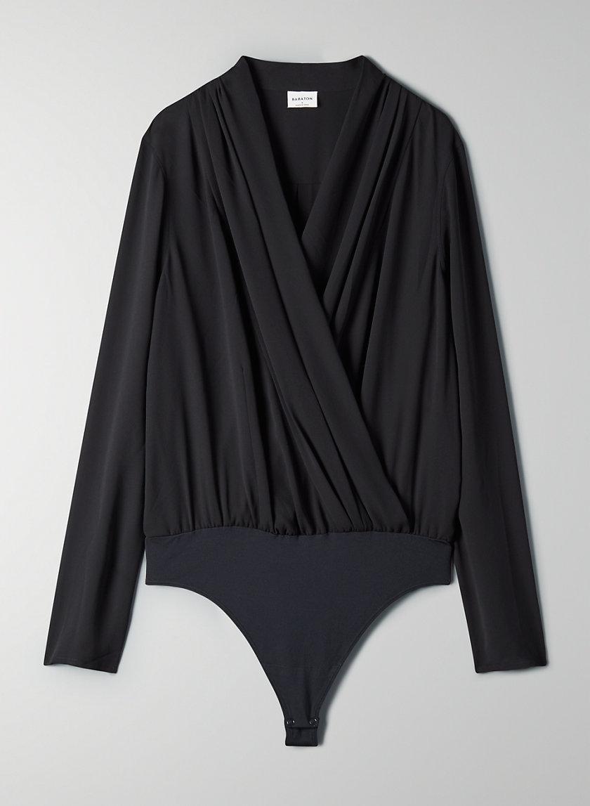 AMBROSE BODYSUIT - Long-sleeve wrap bodysuit