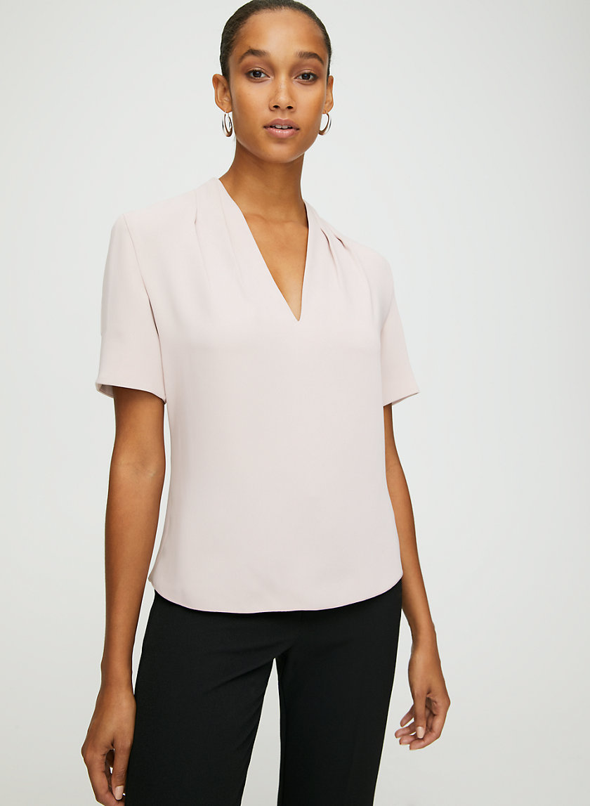BENTLEY BLOUSE - Short-sleeve V-neck blouse