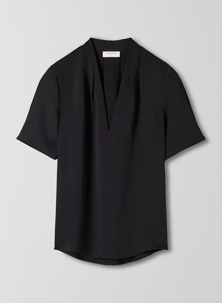 BENTLEY BLOUSE - Short-sleeve V-neck blouse