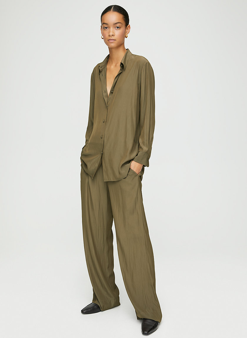 RONAN BLOUSE - Silky, long-sleeve blouse