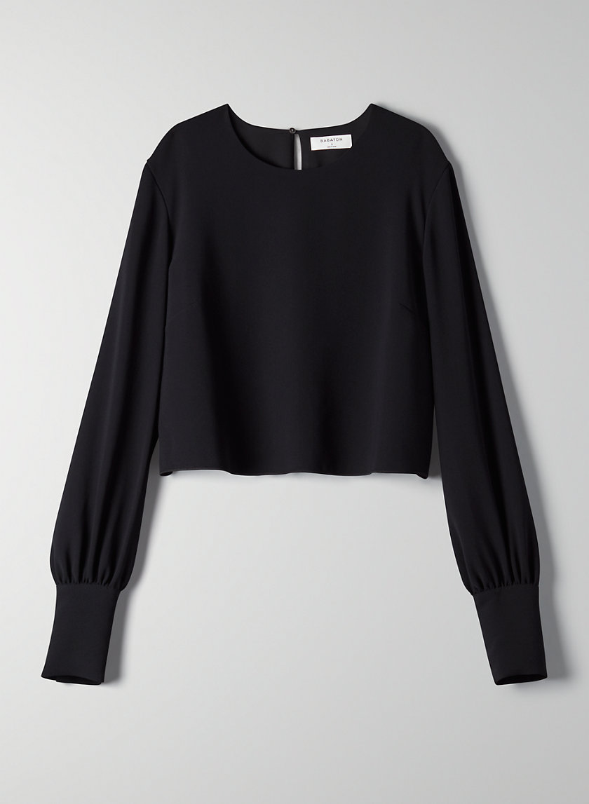 PARSONS BLOUSE - Cropped long-sleeve blouse