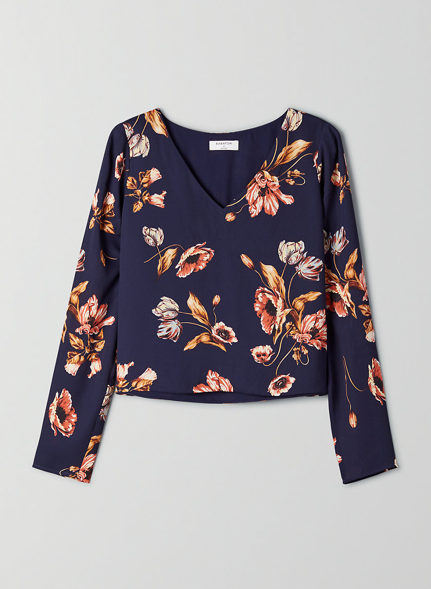 MURPHY LONGSLEEVE - Long-sleeve V-neck blouse