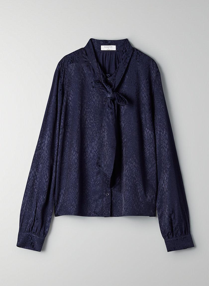 VANDELAY BLOUSE - Button-front, leopard-print blouse