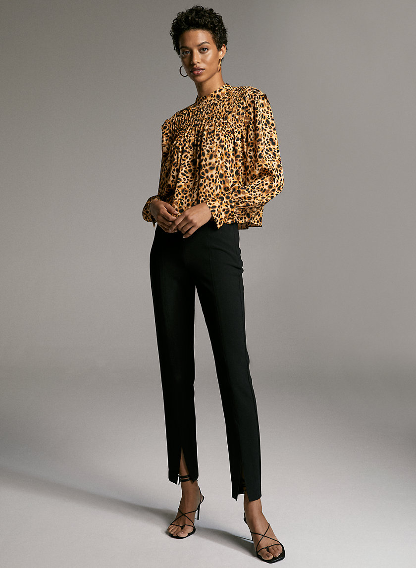 JOTHAM BLOUSE - Long-sleeve, mock-neck blouse