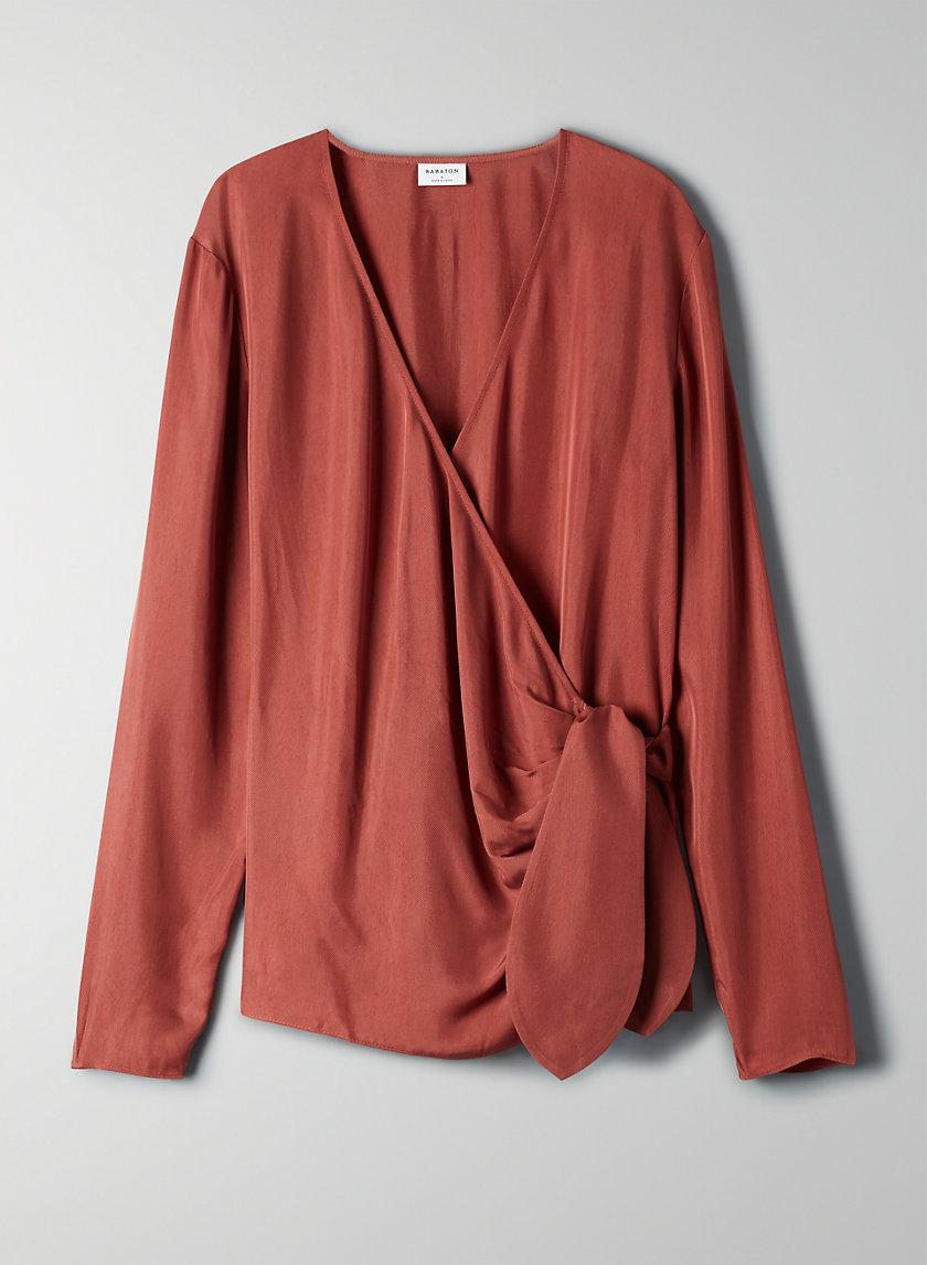 WREN BLOUSE - Long sleeve wrap blouse