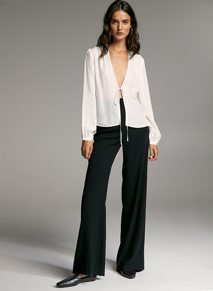 LOVETT BLOUSE - V-neck, tie-front blouse