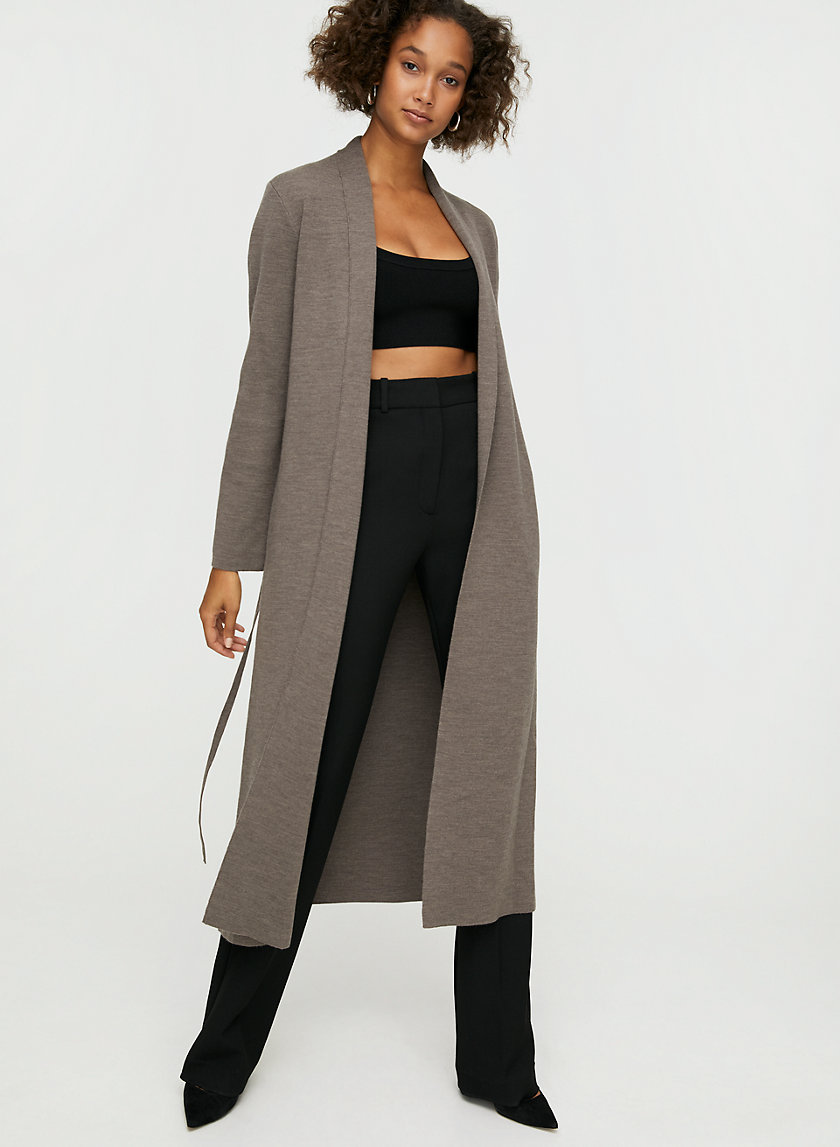 KIRBY SWEATER - Lightweight, belted cardigan