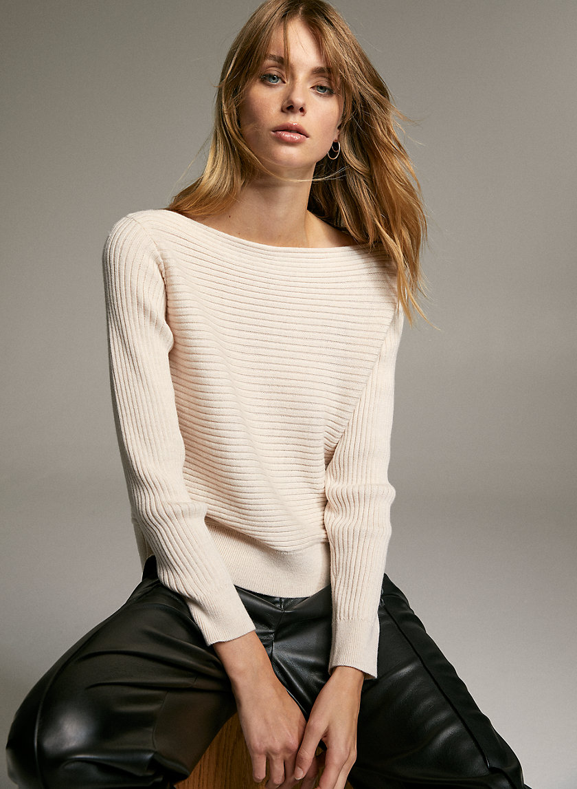 LUC SWEATER - Ribbed-knit, boatneck sweater