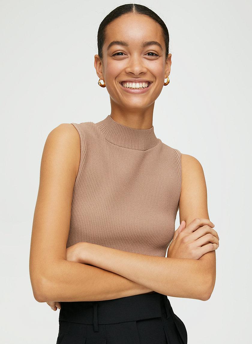 SCULPT KNIT MOCKNECK - Sleeveless sweater