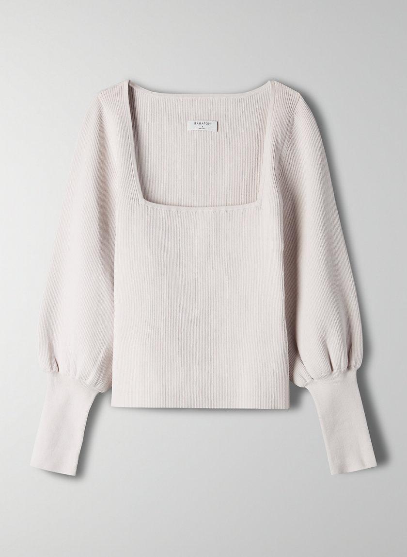 GIDEON SCULPT KNIT SWEATER - Square-neck sweater