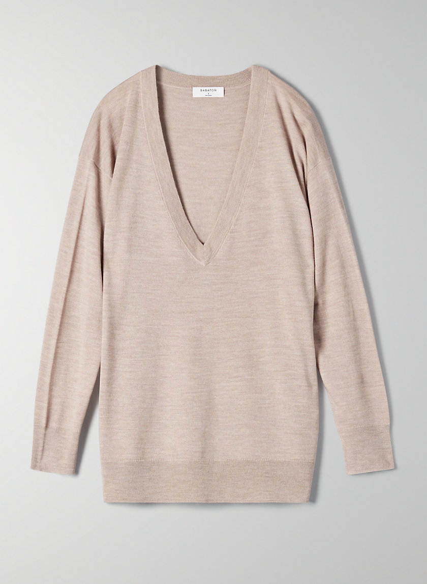 DECLAN SWEATER - V-neck merino-wool sweater
