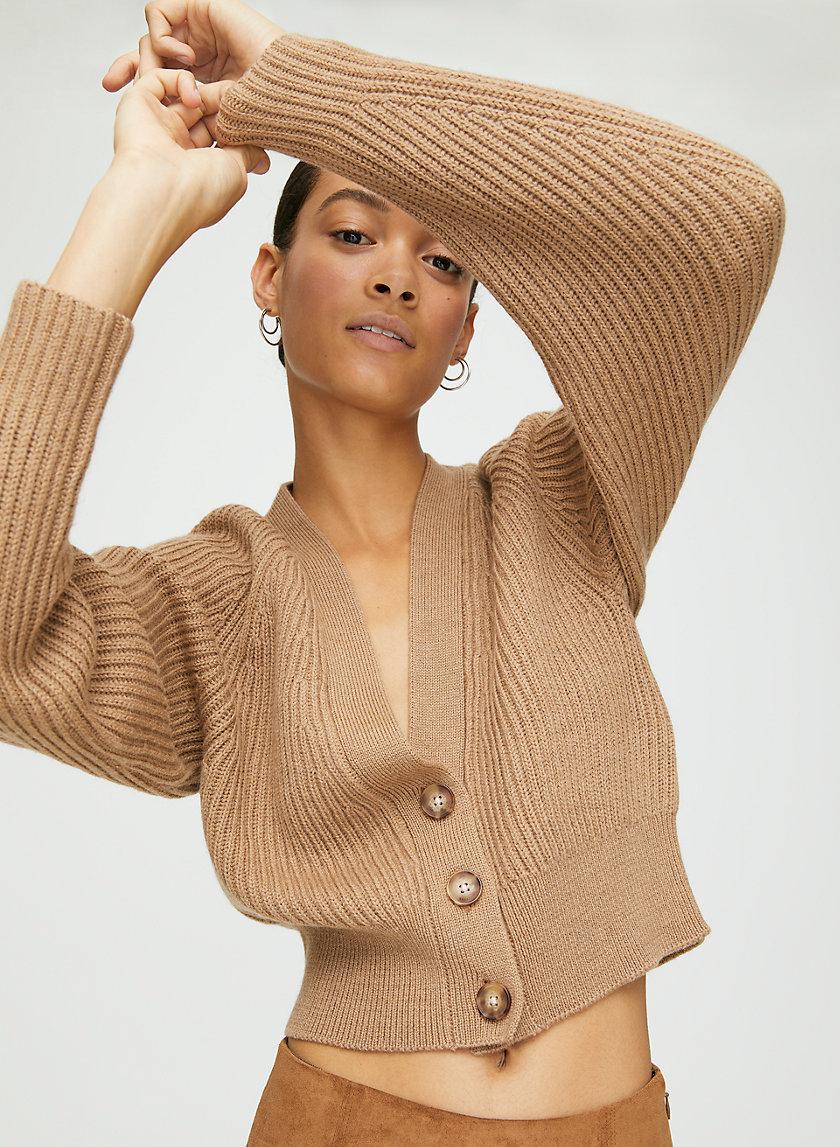 IRVING CARDIGAN - Cropped merino-wool cardigan