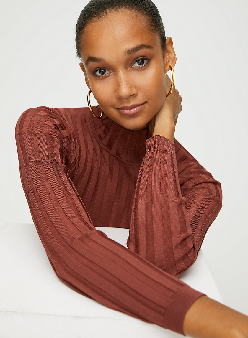 VICTOR TURTLENECK - Fitted ribbed sweater