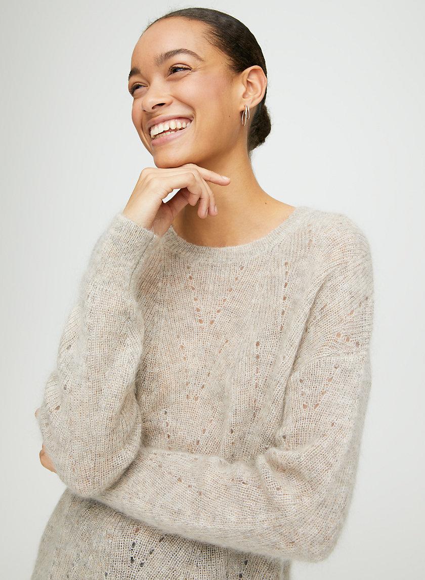 COLTON SWEATER - Fuzzy crew-neck sweater