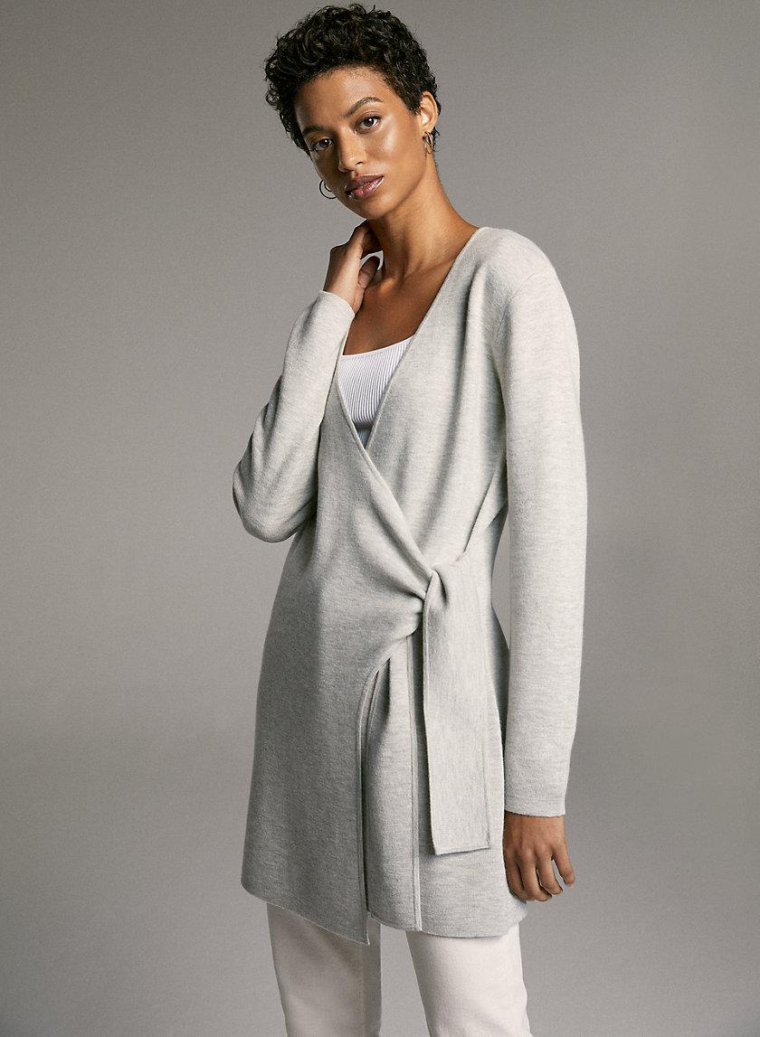 RENZO CARDIGAN - Wrap cardigan sweater