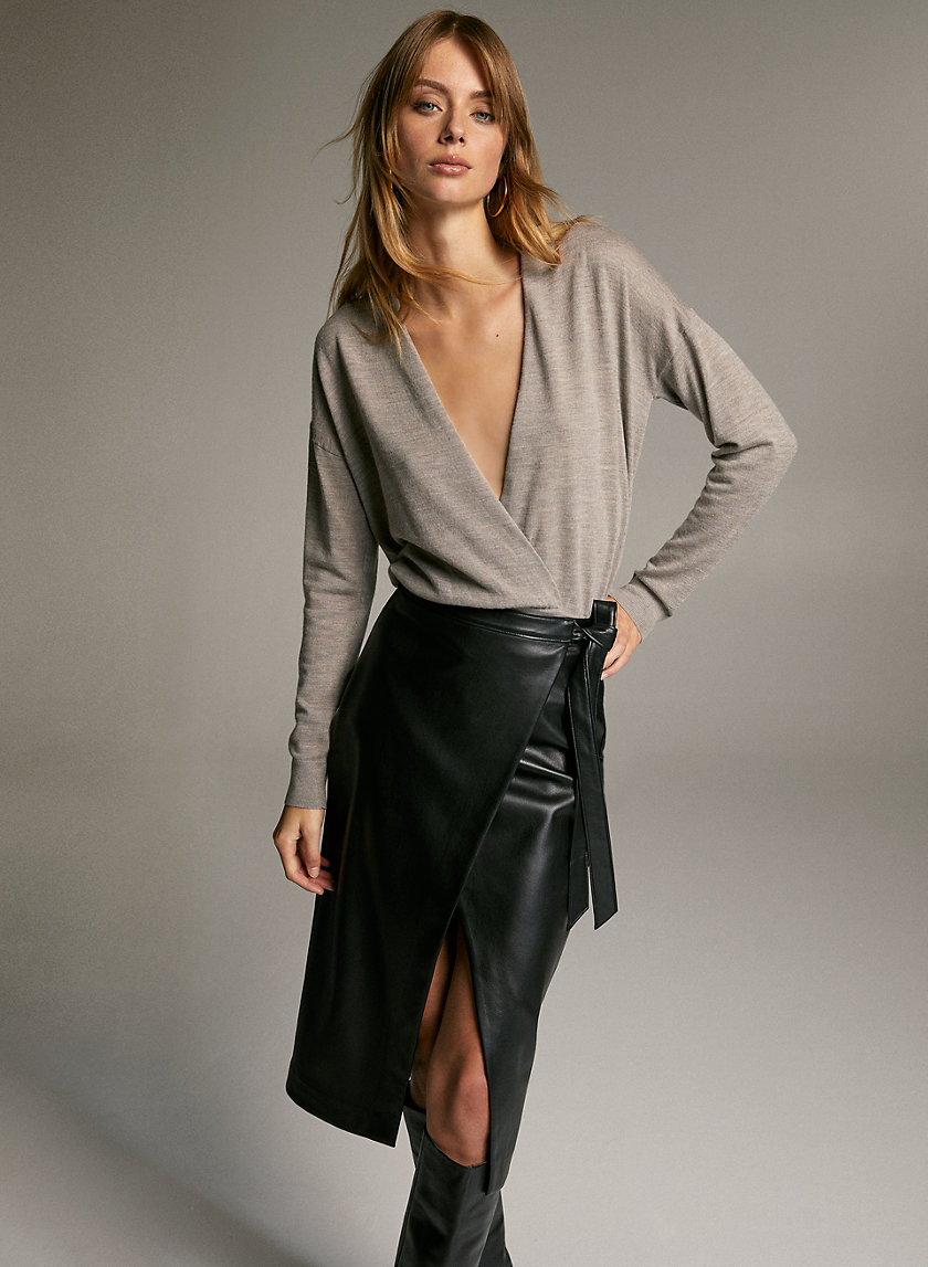 JOTHAM SWEATER - Merino-wool wrap sweater