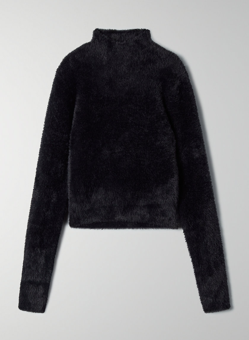 KUMA SWEATER - Cropped mock-neck sweater