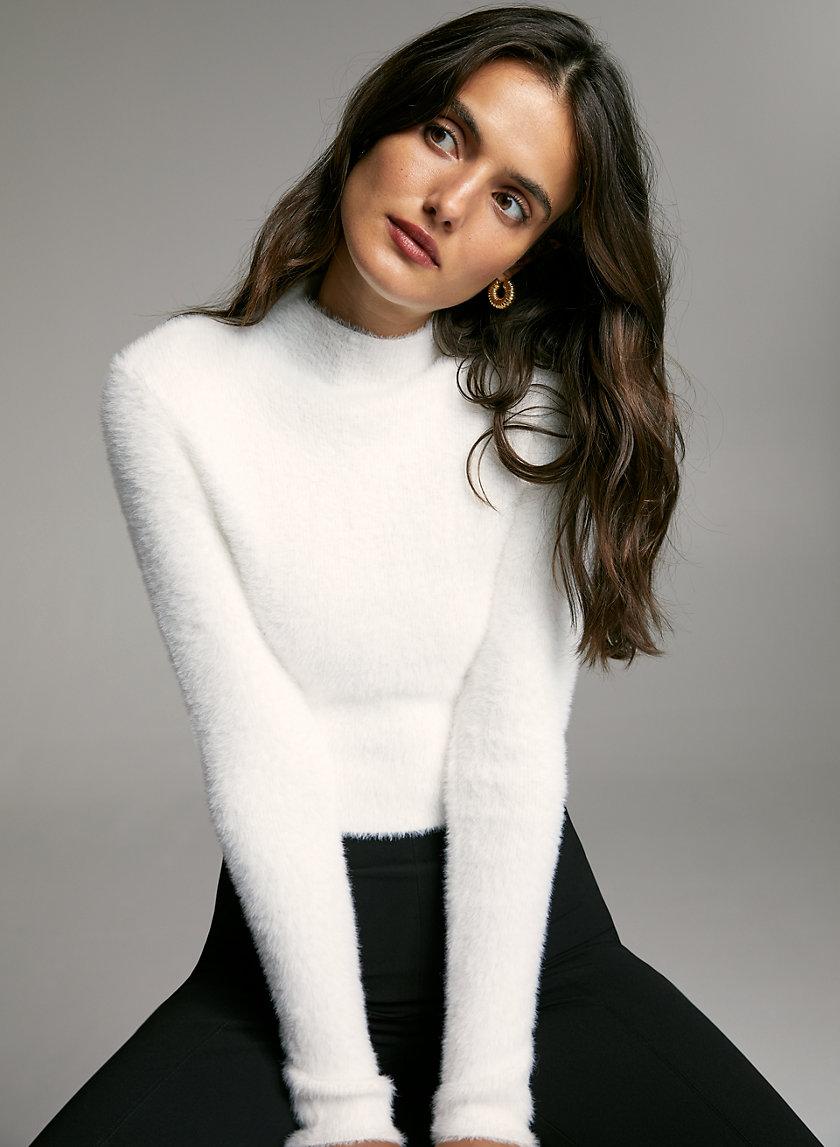 KUMA SWEATER - Cropped mock-neck sweater