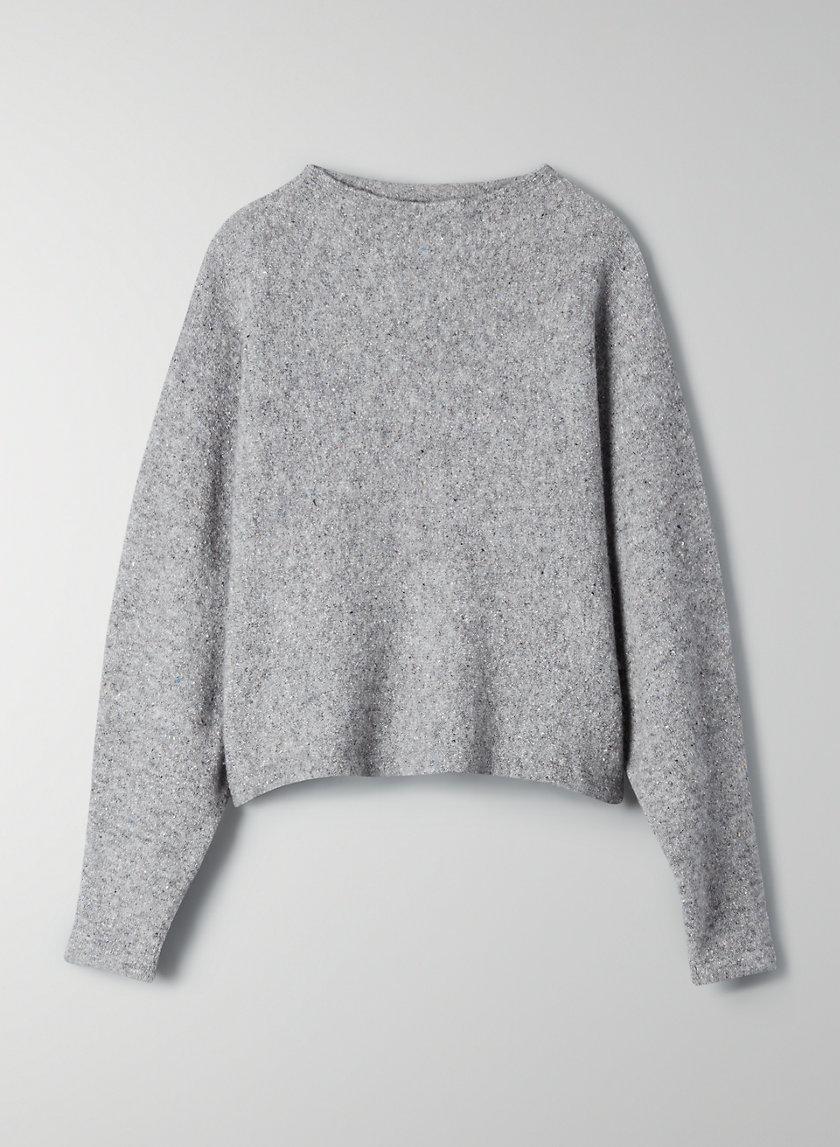 ZAHA MOCKNECK - Relaxed wool sweater