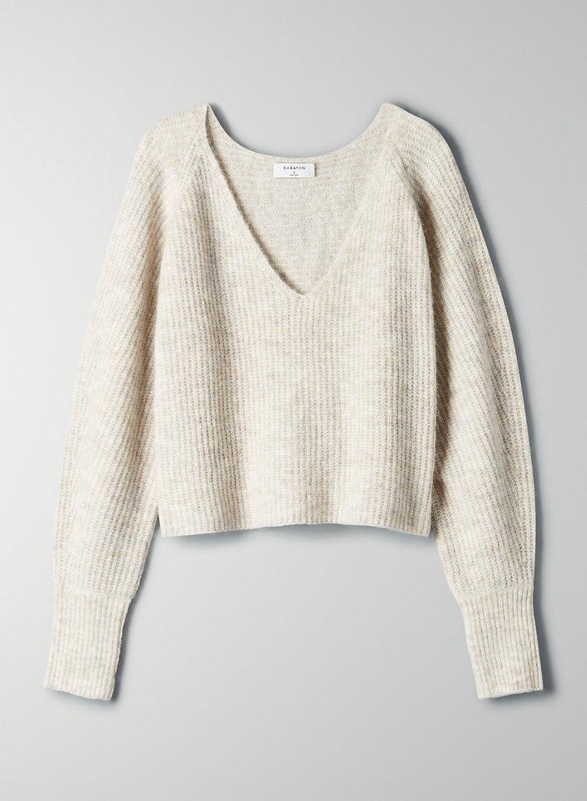 TESSIN SWEATER - V-neck alpaca sweater