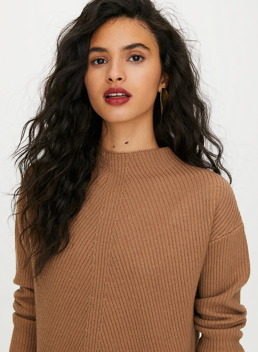 CHALMERS SWEATER - Mock-neck wool sweater