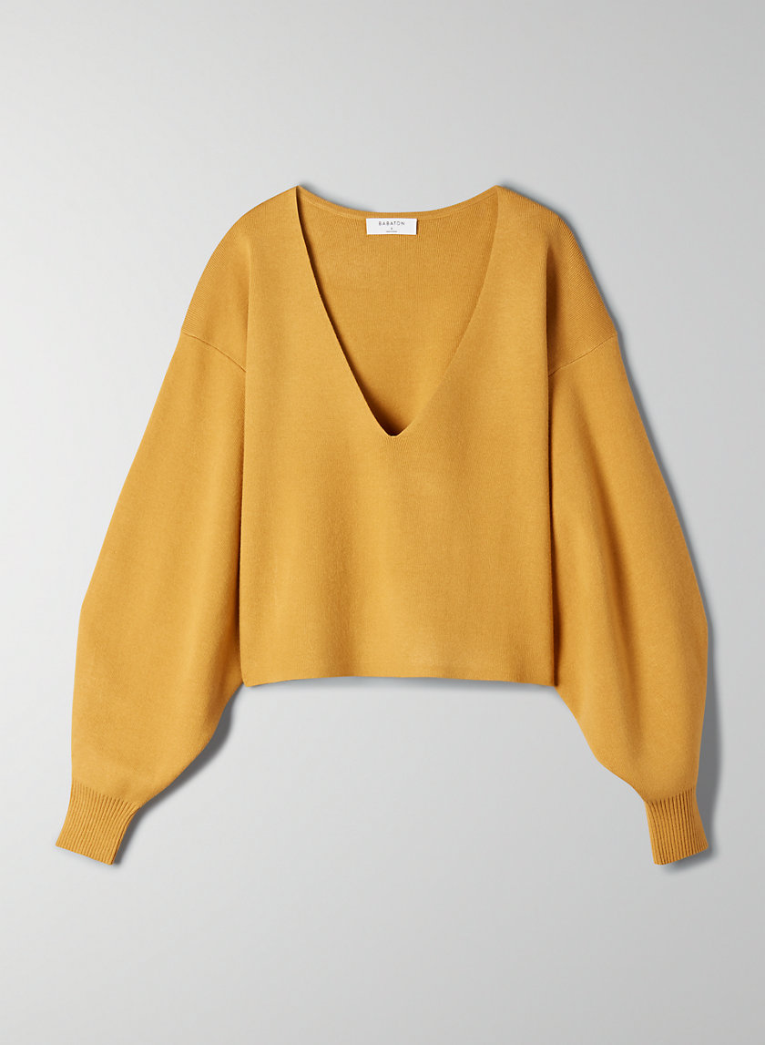 WREN SWEATER - Cropped V-neck sweater