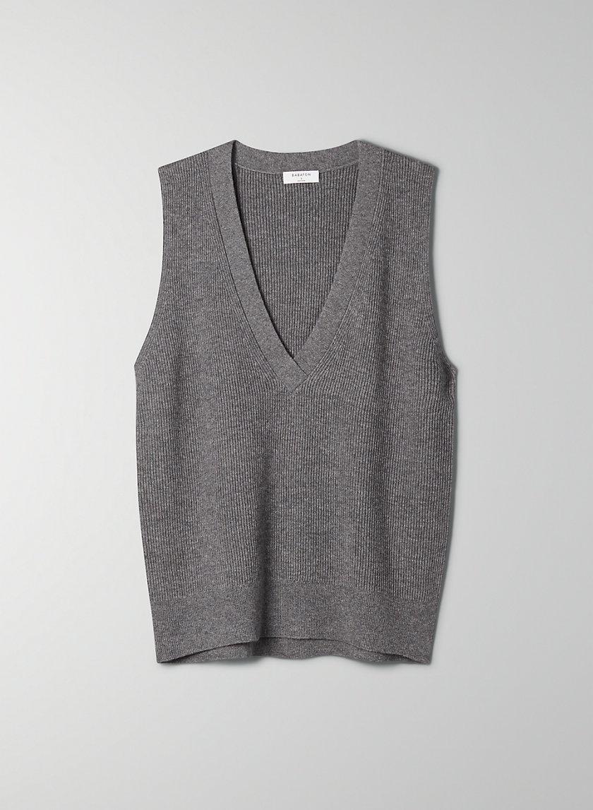 SIDNEY VEST - Deep V-neck sweater vest