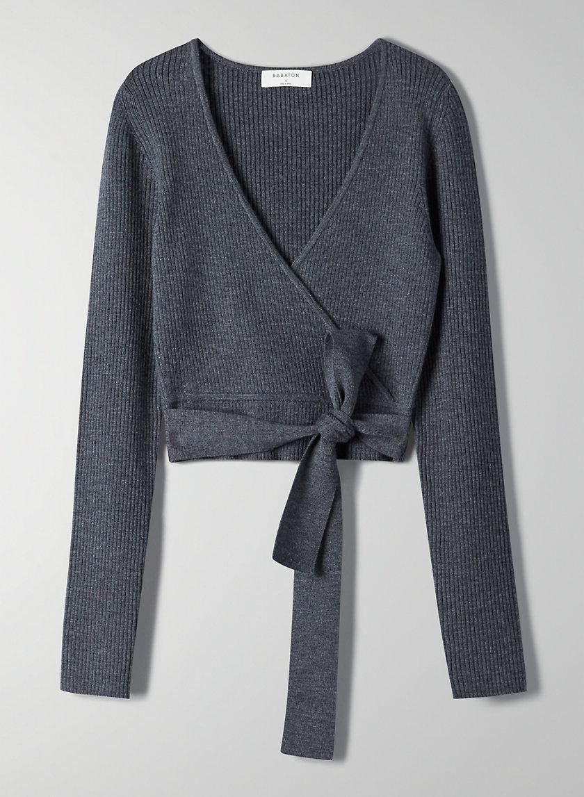 ROMEO WOOL SWEATER - Merino-wool wrap sweater